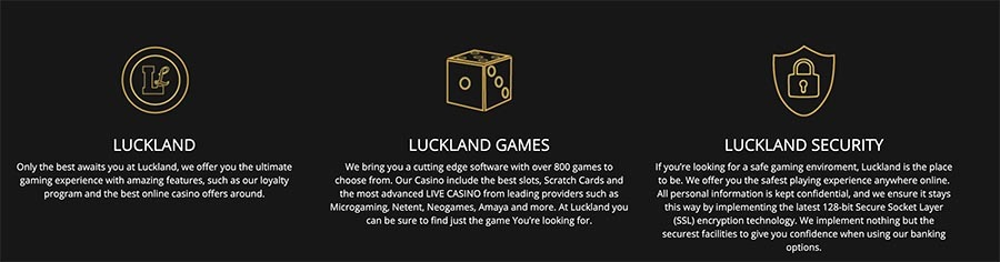 casinolisting luckland casino info